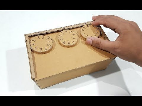 (7) How to make Safe Locker with Combination Lock with Cardboard - YouTube