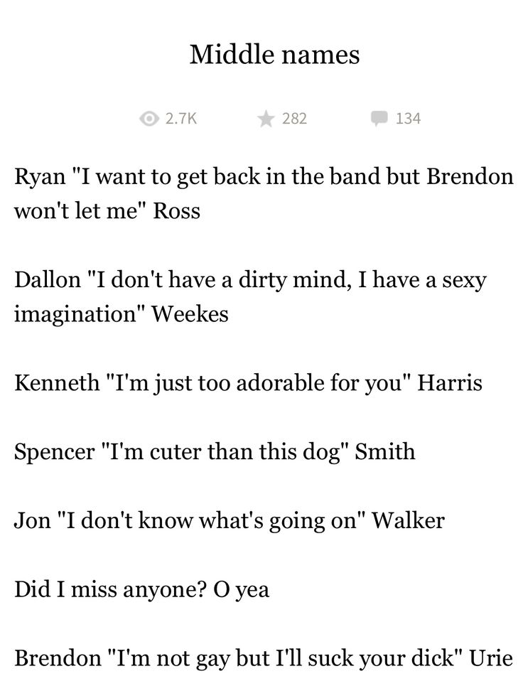 I love how Ryan's is based on what we talk about and Brendon's is literally a quote…from Brendon