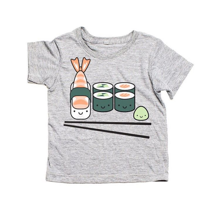 SUSHI! AW15 Whistle & Flute is live! How crazy cute is this tee? The girls are loving this collection! We're offering free US shipping for a limited time too ☺️ #designlifekids #kawaii #kawaiicute