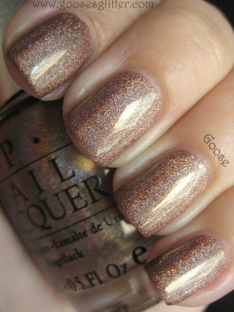 "OPI Color…""goose's glitter."" Swooning over this fab color."