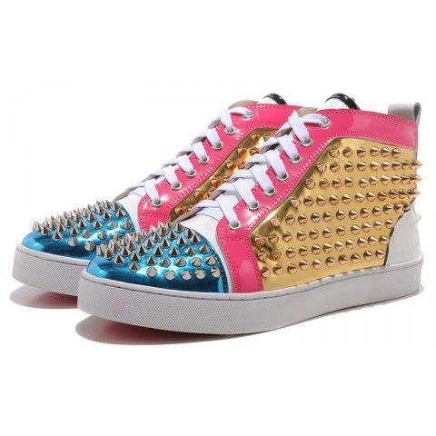 Christian Louboutin Louis Flat Mens Spikes Multicolor