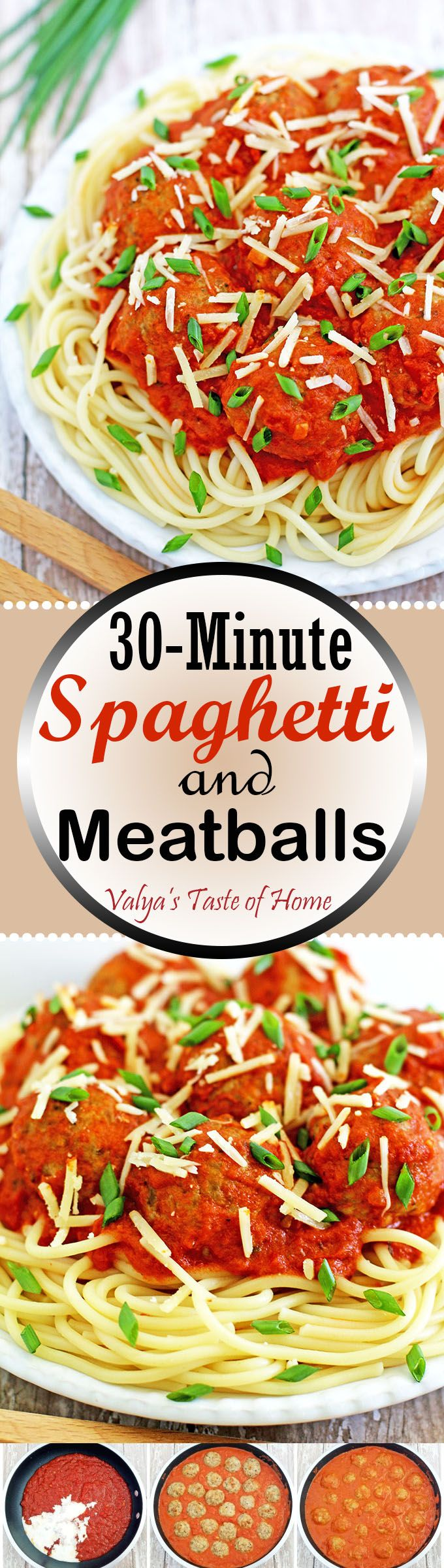 I've never seen a kid that doesn't love 30-Minute Spaghetti and Meatballs Recipe. And we, as moms, love to see them appetizingly devour every bit of this dish. This is one of those quick solution meals for any busy, pressure-packed, limited-time days, as well. Spin some Caesar salad, toast some garlic bread, or thaw and bake ready-made bread sticks and voila!