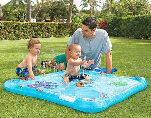 Li l Squirst Baby Pool – With Floating 3D Fish And Mini Fountains
