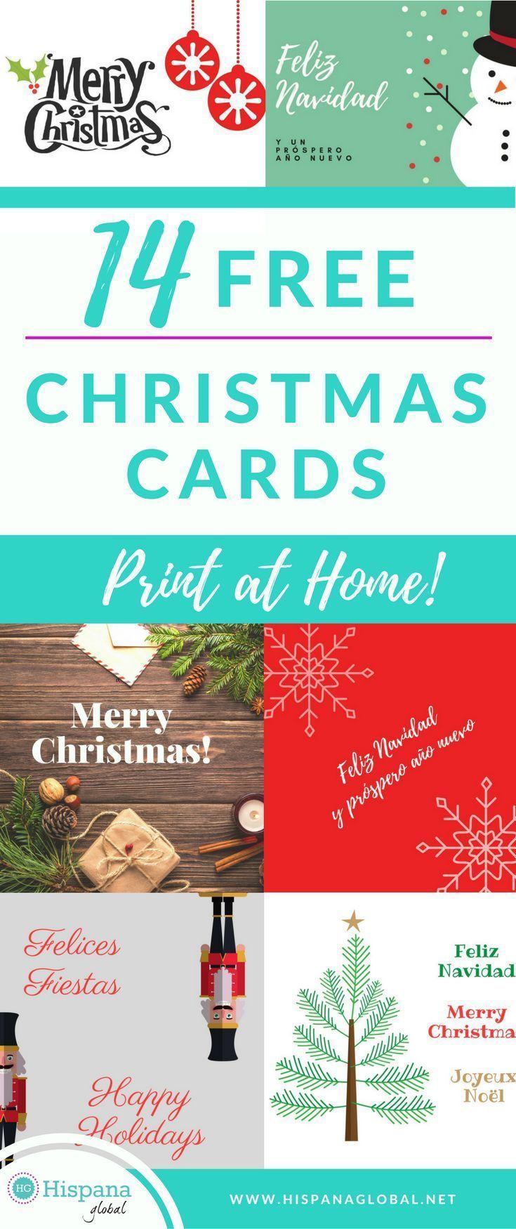 14 Free Christmas Cards You Can Print At Home   Hispana Global ...