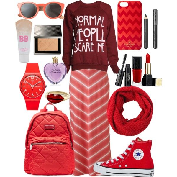 A fashion look from March 2015 featuring Sonoma life + style skirts, Converse sneakers and MARC BY MARC JACOBS backpacks. Browse and shop related looks.