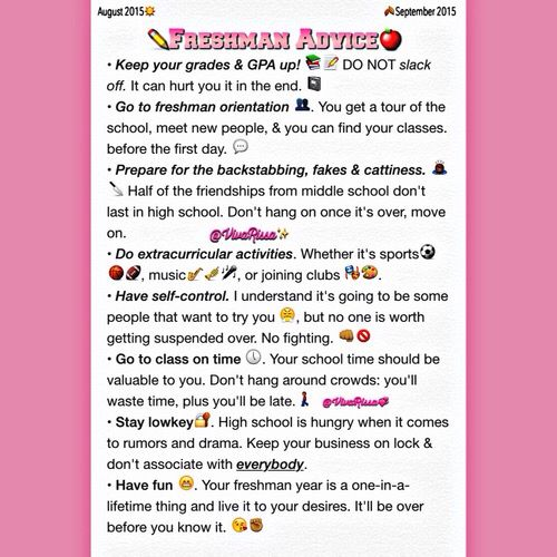 25+ best ideas about Freshman advice on Pinterest | Freshman ...