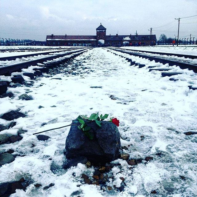 Auschwitz II-Birkenau. The main gate with the unloading platform of the camp. --- Photo by @gibwebb304 ---