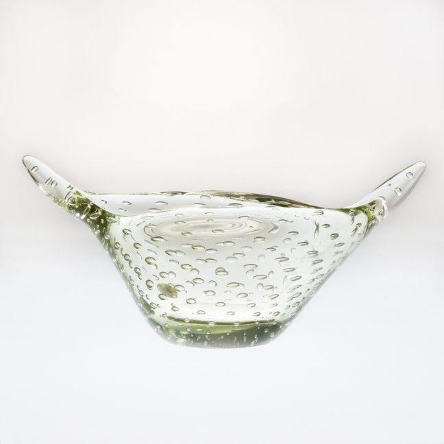 Decorative glass dish.