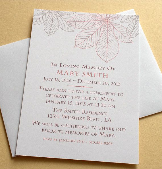 27 best Memorial Celebration of Life ideas images on Pinterest - memorial service invitation template