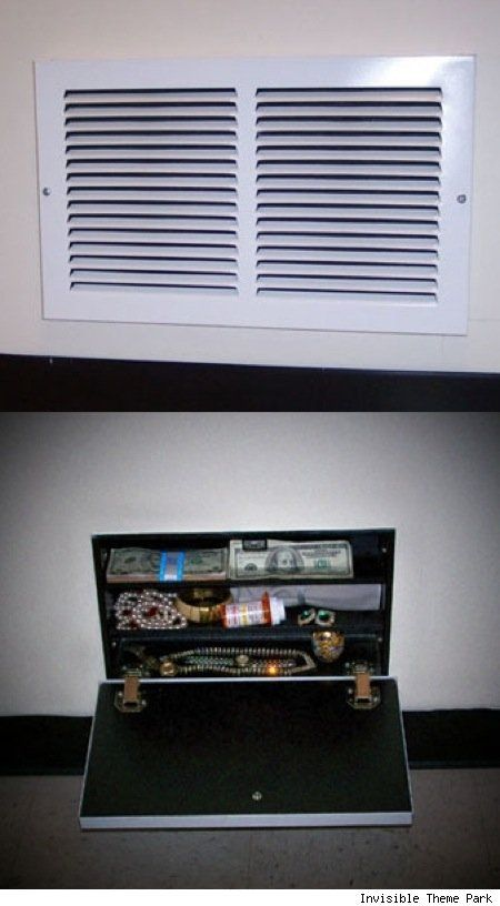 Secret compartment behind air vent