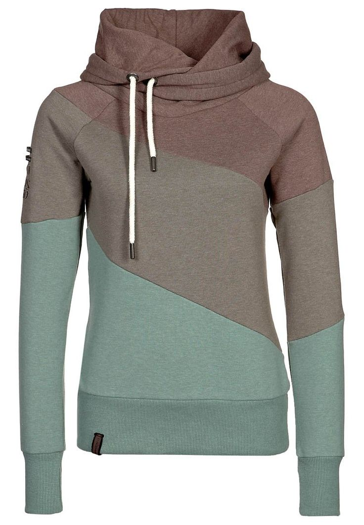 Asymmetrical hoodie... love the colors!