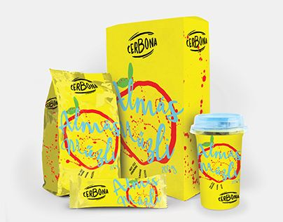 Cereal packaging colorful illustrative design