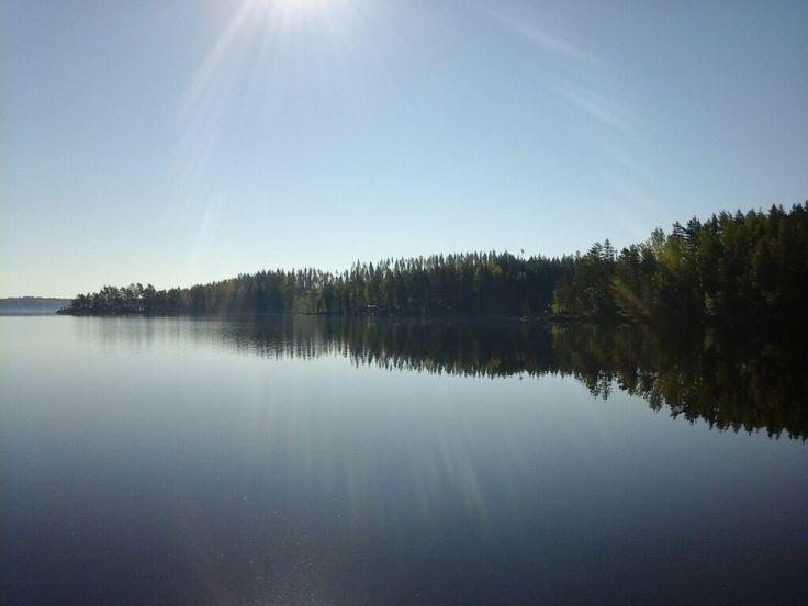#Puula #Hirvensalmi #kesäaamu #lake #summer #sunbeam