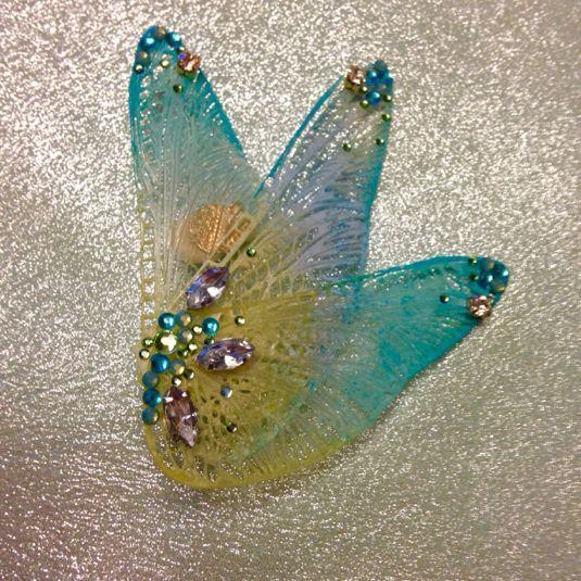 【モデル着用品】妖精の羽イヤリング