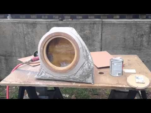 Fiat 500 Abarth Custom Subwoofer Box fiberglass - YouTube