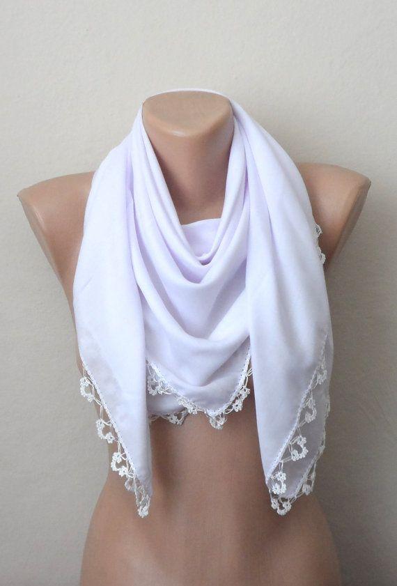 white scarf cotton scarf oya scarf yemeni scarf women scarf