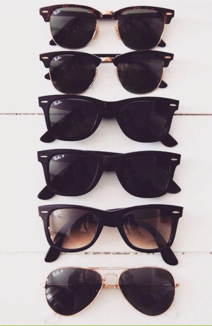 Buy all these 5 pairs of RayBan sunglasses from this site, I love how they feel (sturdy/thick feeling) and look.The picture to the right with three glasses ...