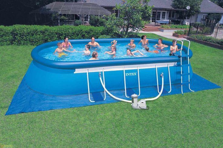 Piscina PVC Ovalada 610x366x122cm cart 16628lt Intex  #piscinashinchables