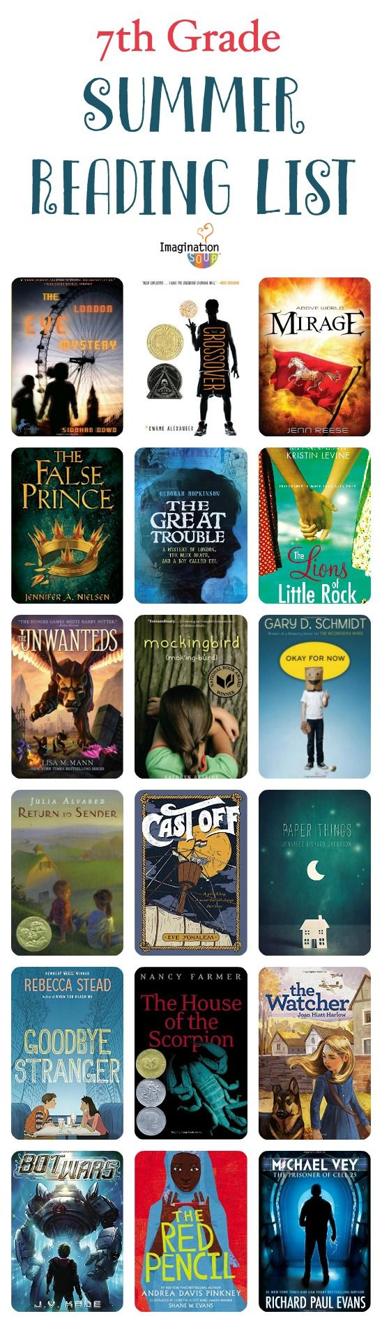 7th grade summer reading list