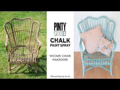 £5 wicker chair makeover with spray chalk paint » Maybush Studio