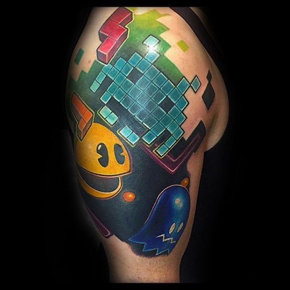 30 Pacman Tattoo Designs For Men