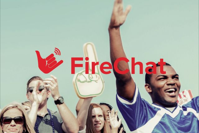 Install FireChat if you want to chat with people around without any internet!