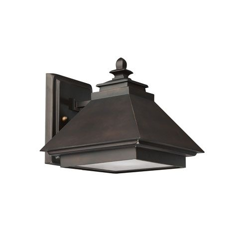 Burnished Bronze One Light Outdoor Wall Light Capital Lighting Fixture Company Wall Mounte