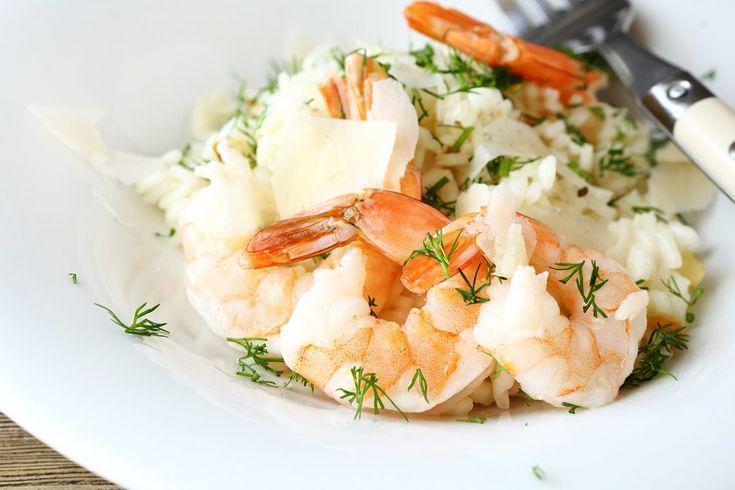 Как приготовить  сытный осенний ужин:  10 рецептов. Жареные креветки с имбирем и рисом.