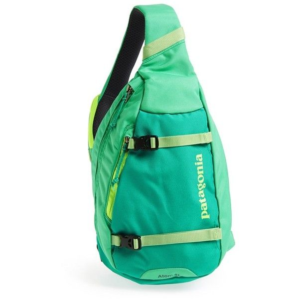 Women's Patagonia 'Atom' Sling Backpack ($49) ❤ liked on Polyvore featuring bags, backpacks, backpack, checkered backpack, patagonia, patagonia bags, backpack sling bag and padded backpack