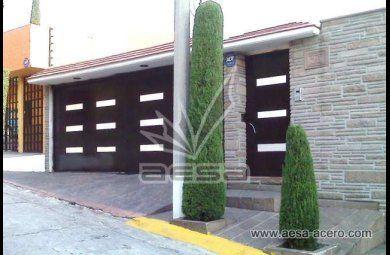 Fachada sin techo en cochera fachadas pinterest - Puertas de cochera ...