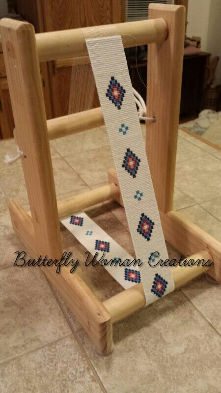 Beaded belt strip on my homemade loom. www.facebook.com/butterflywomancreations