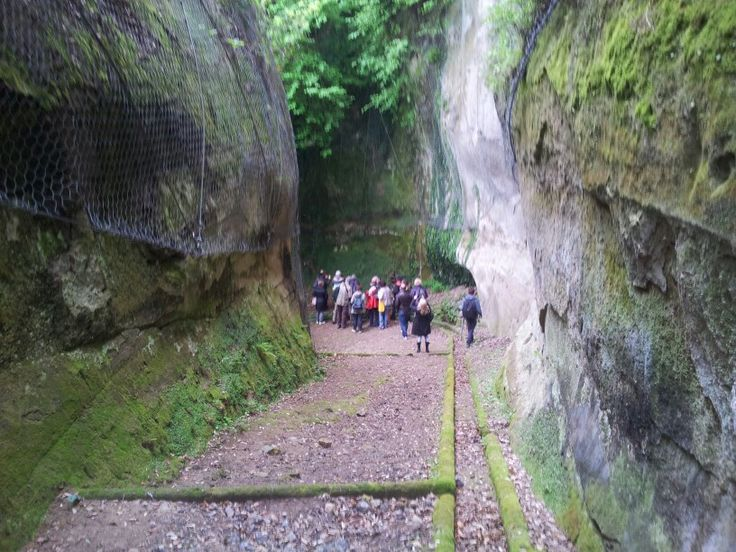 Un ciclopico corridoio la Via Cava del Gradone #invasionidigitali #invadiamoilMuseoManzi