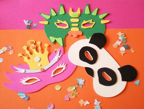 Maschere di #Carnevale fai da te