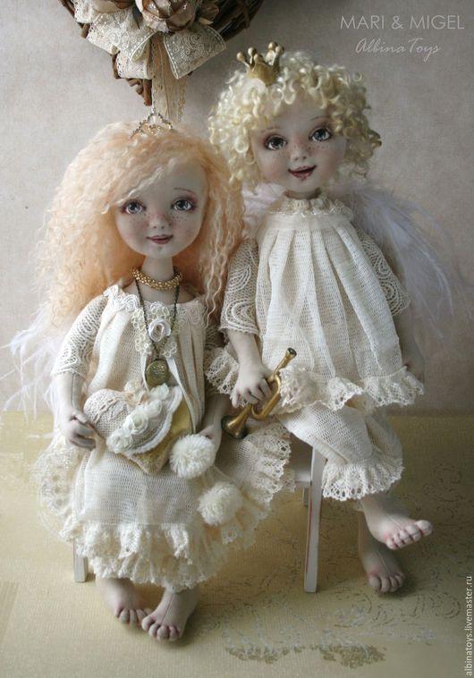 Коллекционные текстильные куклы. Ангелы. Альбина Шаронова.
