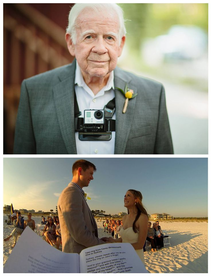 This officiant wore a GoPro during a wedding....that would be such a cool video to have!