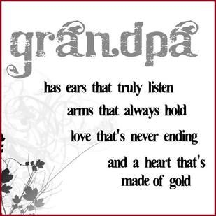 My husband is the best Grandpa ever to our grandkids. Of course I also think he's the best husband there ever was -  he's not perfect & neither am I - we are saved by Grace - & thankful to be here to spend time with our grandbabies...