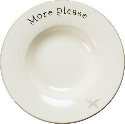 More Please Ceramic Pasta Bowl
