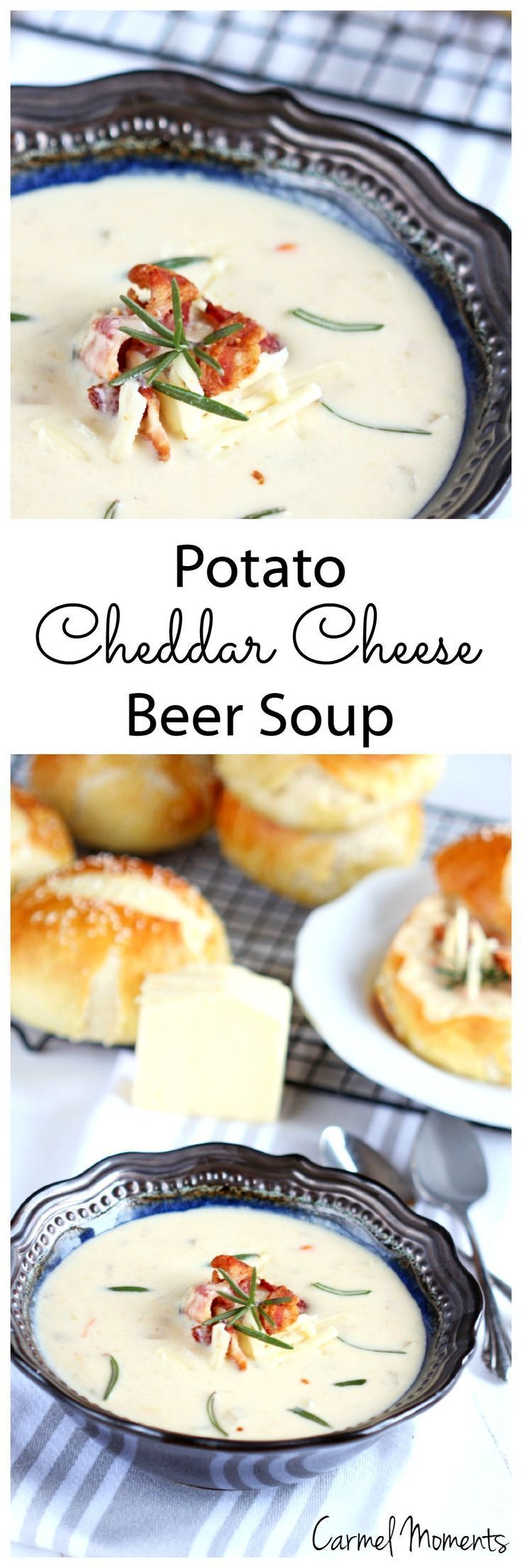 Delicious creamy soup boasting flavor from beer, potatoes and cheddar cheese.