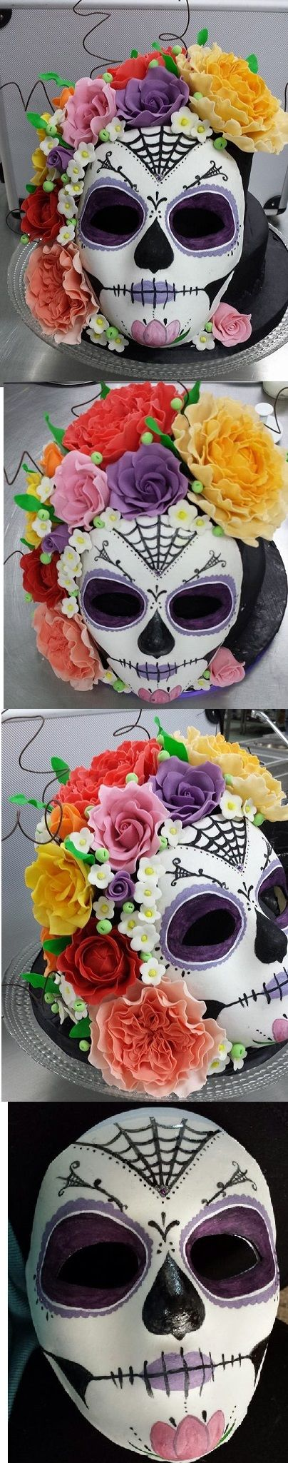 Sugar Skull I'm so happy how this turned out, I really wanted to make a cake that was out of the norm for my show piece at school, I'm about to recreate it for a upcoming comp. (fingers crossed)