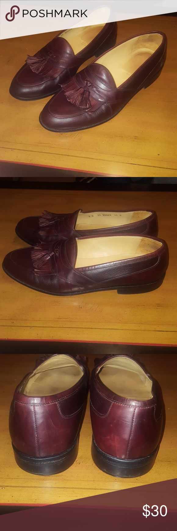 Johnston Murphy Cordovan Cellini Tassel Loafers 11 Only $15. Price is firm. Johnston Murphy Cordovan Cellini Tassel Loafers Size 11 M. This pair of shoes are in excellent condition. These shoes are made in Italy and they are Johnston Murphy's best. Johnston & Murphy Shoes Loafers & Slip-Ons