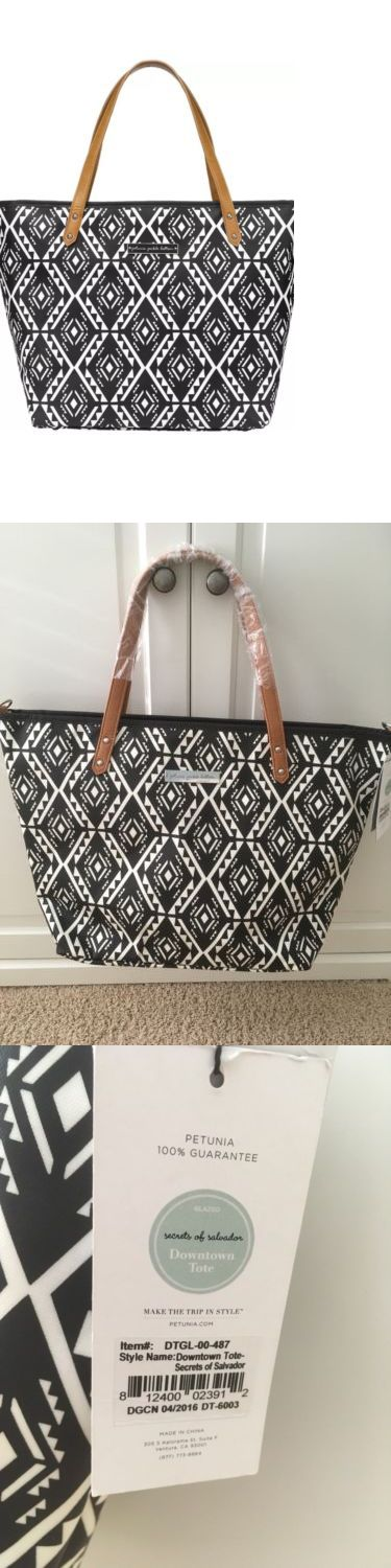 Diapering 45455: Petunia Pickle Bottom Downtown Tote Diaper Bag In Secrets Of Salvador Black -> BUY IT NOW ONLY: $42.99 on eBay!