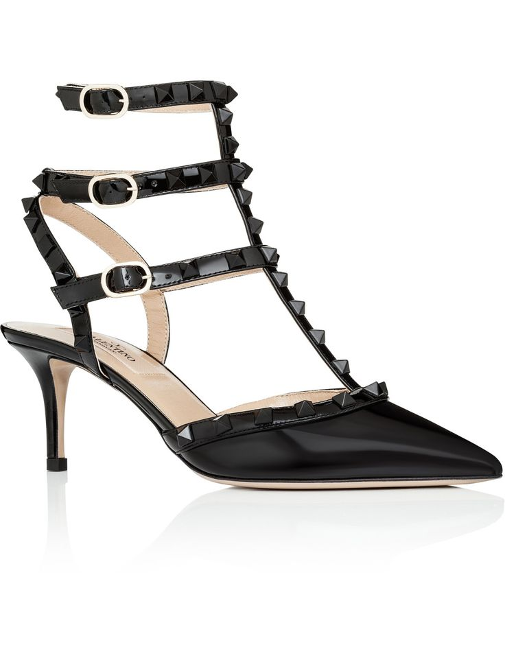 Punkouture Rockstud Patent Point T-bar Sling #valentino #djstyle