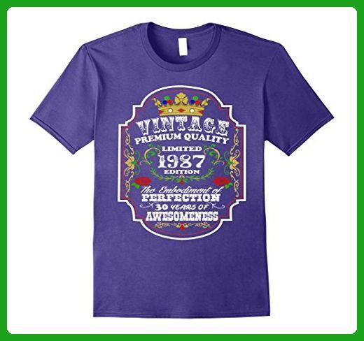 Mens T-Shirt For 30 Year Old Men & Women 30th Birthday Gift Tees XL Purple - Birthday shirts (*Amazon Partner-Link)