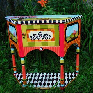 the decorative paintbrush designs by mary mollica garage sale lovin