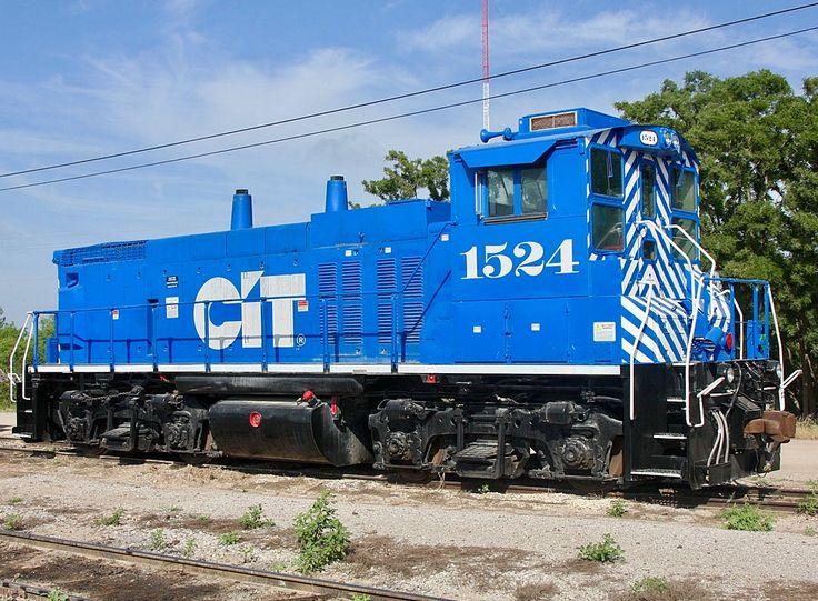CIT Equipment Finance Corp. (CEFX), EMD MP15AC diesel-electric switcher locomotive in San Angelo, Texas, USA