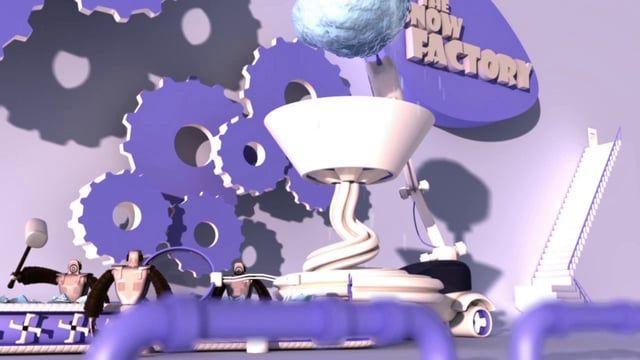 """La fabrique de neige a été entièrement réalisée par mes soins, de l'idée de départ au montage final en passant par la conception 3D, l'animation et le compositing.   Musiques utilisées : - """"Discombobulate"""" de Hans Zimmer - """"Chestnuts roasting on an open fire"""" de Nat King Cole"""