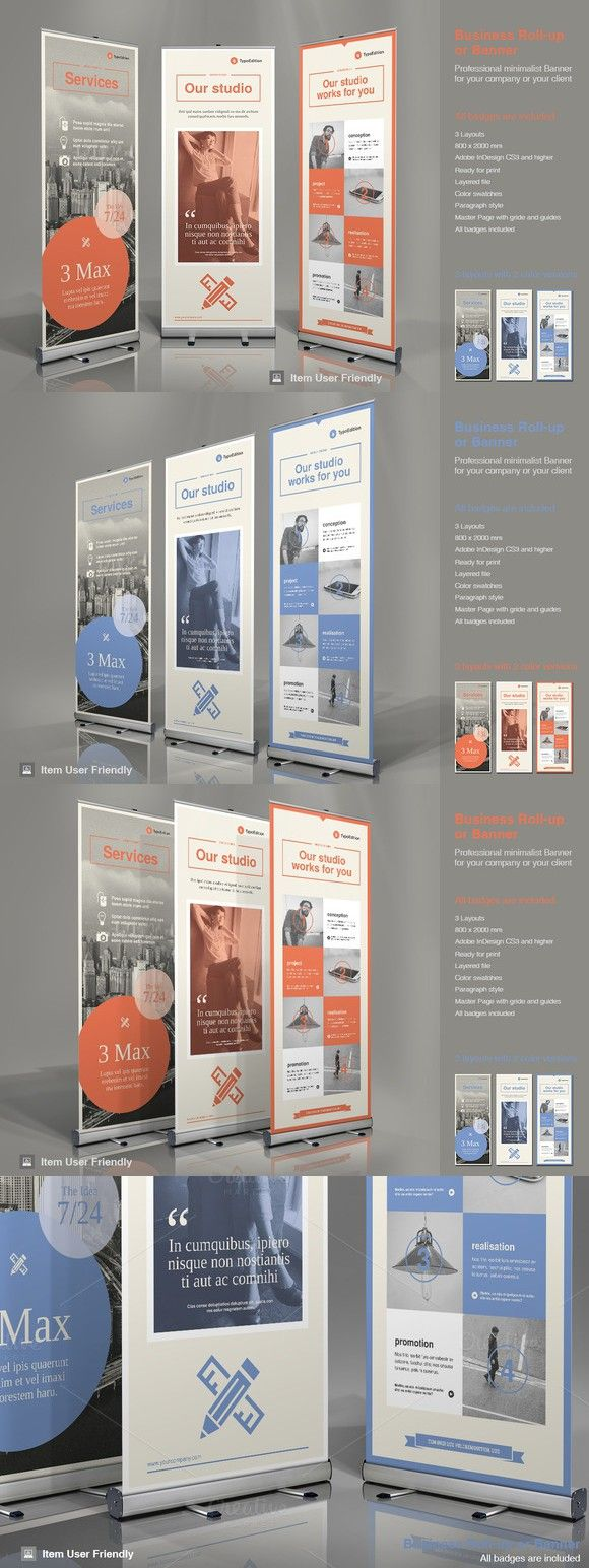 Business Roll-Up Banner 3. Flyer Templates. $10.00