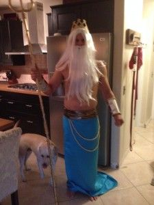 DIY The Little Mermaid and King Triton Halloween Costume | The Little Lam