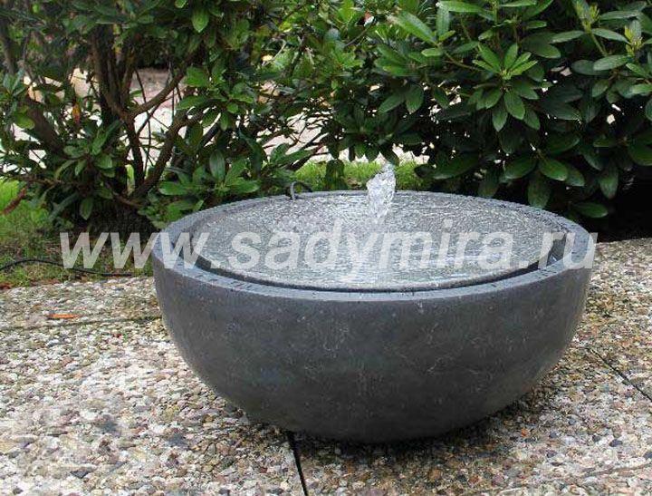 Мини- фонтан из камня простой формы