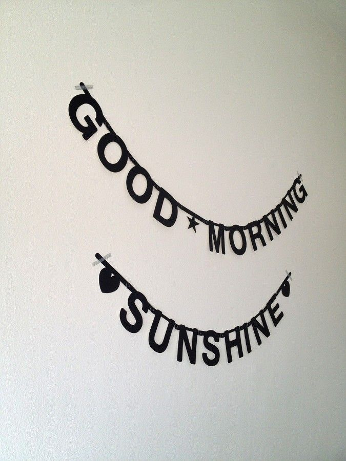 Good Morning Sunshine Letter : Best word banners images on pinterest garlands